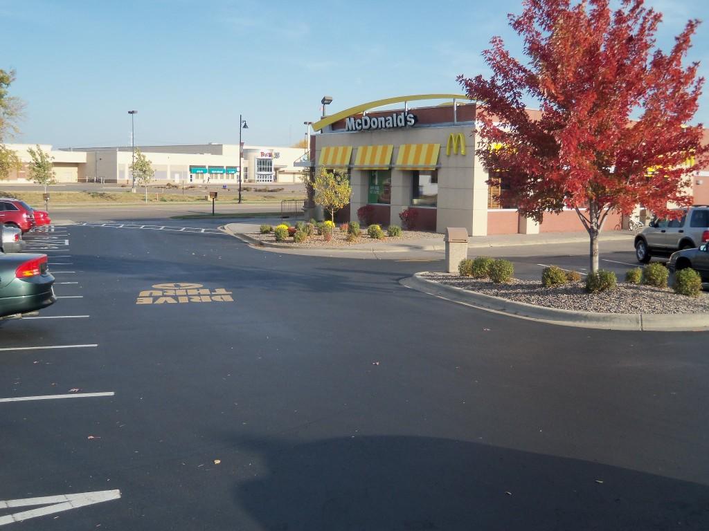 McDonalds Parking lot sealcoating